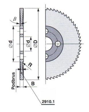 Pilový kotouč HSS 30 jemný 125X1,6X27 A ČSN222910.1(0170247)