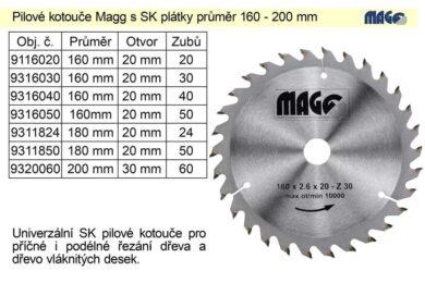 MAGG 9316030 Pilový kotouč HOBBY SK 160x2,6x20 30z(7768859)