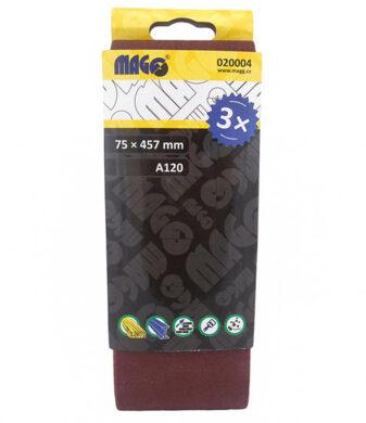 MAGG 020004 Brusný pás 75x457mm P120 sada 3ks(7891078)