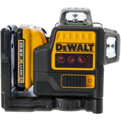 DEWALT DCE089D1R-QW Aku laser linkový 10,8V 1x2,0Ah 3x červený paprsek          (7899736)