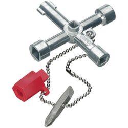 Klíč na rozvodné skříně KNIPEX 00 11 03-Univerzální křížový klíč na rozvodné skříně