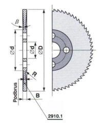 Pilový kotouč HSS 30 jemný 100X1,6X22 A ČSN222910.1-kovopila 100X1,6X22 A ČSN222910.1