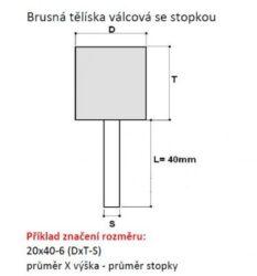 Brusné tělísko 10x25-6 (413404) 99BA60M8V40 TYROLIT 32151-1061.0015(0205569)