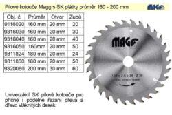 MAGG 9318024 Pilový kotouč HOBBY SK 180x2,5x20 24z