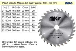 MAGG 9318050 Pilový kotouč HOBBY SK 180x2,5x20 50z