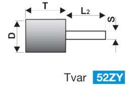 Brusné tělísko 12x25-6 (413732) 98A60O6V40 TYROLIT 32161-1243.0015(7793459)