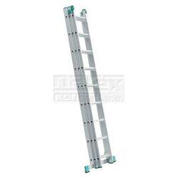 ELKOP 109454 Žebřík výsuvný VHR H 3x11 příček 6630mm-Trojdílný hliníkový víceúčelový HOBBY žebřík