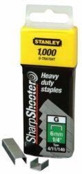 STANLEY 1-TRA705T Spony HD balení 1000ks 8mm typ-G-HD sponky typ G 4/11/140