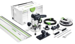 FESTOOL 574384 OF 1010 EBQ SET Frézka horní 1010W + BOX OF S8 - Horní frézka OF 1010 EBQ-Set + Box-OF-S 8/10x HW