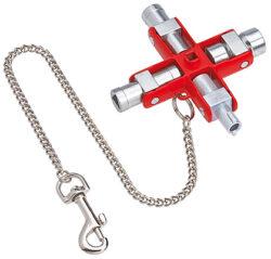 Klíč na rozvodné skříně KNIPEX 00 11 06-Univerzální křížový klíč na rozvodné skříně