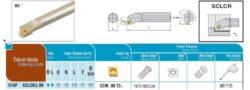 Nůž S16P SCLCR 09 AKKO-Soustružnický držák VBD S16P SCLCR 09
