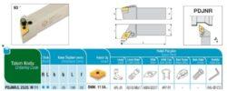 Nůž PDJNR 2525 M 11 AKKO-Soustružnický držák VBD PDJNR 2525 M 11