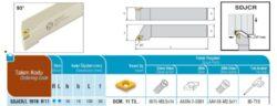 Nůž SDJCR 1616 H 11 AKKO-Soustružnický držák VBD SDJCR 1616 H 11