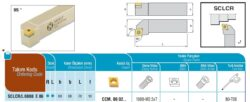 Nůž SCLCR 0808 E 06 AKKO-Soustružnický držák VBD SCLCR 0808 E 06