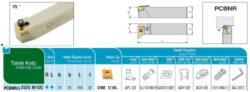 Nůž PCBNR 2525 M 12 C AKKO-Soustružnický držák VBD PCBNR 2525 M 12 C