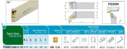 Nůž PSSNR 2020 K 12 C AKKO-Soustružnický držák VBD PSSNR 2020 K 12 C