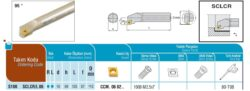 Nůž S10K SCLCR 06 AKKO-Soustružnický držák VBD S10K SCLCR 06