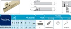 Nůž ADKT-ZCC2-R-2020-4-T20 AKKO-Zapichovací nůž pravý 4mm, AKKO ADKT-ZCC2-R-2020-4-T20