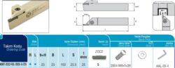 Nůž ADKT-ZCC2-R-2525-5-T25 AKKO-Zapichovací nůž pravý 5mm, AKKO ADKT-ZCC2-R-2525-5-T25