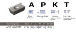 Destička APKT 1604 PDTR LT 30 LAMINA