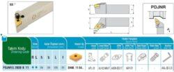 Nůž PDJNR 2020 K 11 AKKO-Soustružnický držák VBD PDJNR 2020 K 11