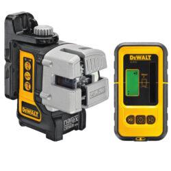 DEWALT DW089KD-XJ Laser křížový-3 paprskový Multi Line Laser DW089K prodávaný s detektorem DE0892