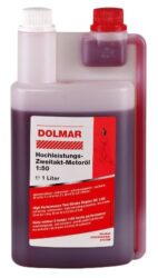 DOLMAR 980008112 Olej motorový 1L s dávkovačem-Vysoce výkonný dvoutaktní motorový olej 50:1