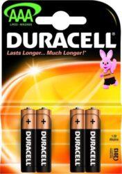 DURACELL LR03/4 AAA Baterie ALKALINE Basic (4ks/bal)