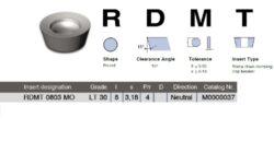 LAMINA Destička RDMT 0803 MO LT 30