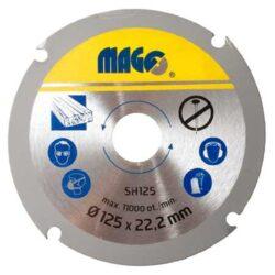 MAGG SH125 Kotouč na dřevo pro úhlové brusky 125mm-Řezný kotouč na dřevo do úhlové brusky 125mm