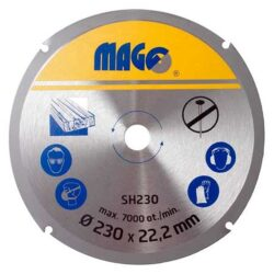 MAGG SH230 Kotouč na dřevo pro úhlové brusky 230mm-Řezný kotouč na dřevo do úhlové brusky 230mm