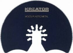 KREATOR KRT990021 Kotouč do multibrusky-HSS Segmentový řezný kotouč dřevo/plast/kov
