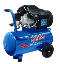 SCHEPPACH HC 52 DC Kompresor olejový 50L 2200W 412L/min 8bar-Dvouválcový olejový kompresor 8 bar