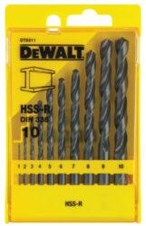 DEWALT DT5911 Sada vrtáků na kov-10-ti dílná sada vrtáků do kovu HSS-R DIN 338