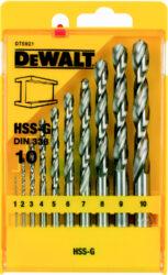 DEWALT DT5921 Sada vrtáků na kov 1-10mm-10-ti dílná sada vrtáků do kovu HSS-G DIN 338