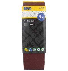MAGG 020006 Brusný pás 75x533mm P60 sada 3ks