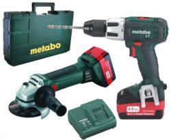 METABO 69082969083 Set nářadí 18V 2x4,0Ah /BS 18 LT + W 18 LTX/-Set nářadí 18V 2x4,0Ah