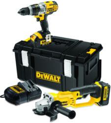 DEWALT DCK256M2 Set nářadí 18V 4,0Ah Li-ion /DCD985 + DCG412/-Aku kombo sada nářadí 18 V
