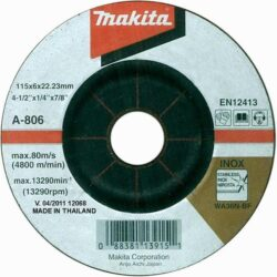 MAKITA A-80656 Kotouč brusný 125x6 na nerez-Kotouč brusný 125x6 na nerez