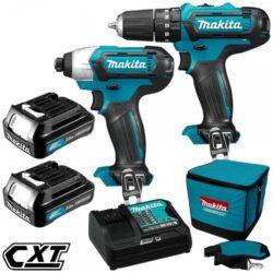 MAKITA CLX202SA Set nářadí 10V Li-ion /HP331+ TD110/-Sada HP331DZ+TD110DZ+2xaku+taška