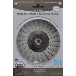 MAGG ROTO12525 Rotační rašple hrubá 125x22,2x2,5mm pro úhlové brusky-Rotační rašple hrubá 125x22,2x2,5mm pro úhlové brusky