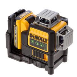 DEWALT DCE089D1G-QW Aku laser linkový 10,8V 1x2,0Ah 3x zelený paprsek           -3x paprsek - 2x vertikální a 1x horizontální