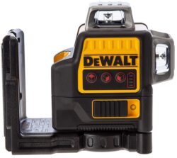DEWALT DCE089LR-XJ Aku laser linkový 4x AA, 3x červený paprsek                  -3x paprsek - 2x vertikální a 1x horizontální