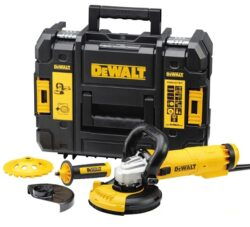 DEWALT DWE4217KT-QS Bruska úhlová 125mm 1200W set sanace - Bruska úhlová 125mm 1200W set sanace