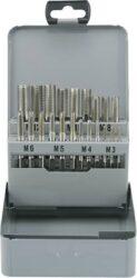 TOOLCRAFT 821396 Sada sadových závitníků HSS  M3-M12-Sada ručních metrických závitníků HSS M3-M12 Toolcraft