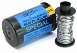 NUBA Sn 60 Pb - MTL 408 Cín pájecí Sn 60 Pb - 50g D1,0mm MAGG P2/50-Cín pájecí Sn 60 Pb - 50g D1,0mm