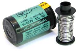 NUBA Sn 63 Pb - MTL 408 Cín pájecí Sn 63 Pb - 50g D0,8mm MAGG P3/40-Cín pájecí Sn 63 Pb - 50g D0,8mm