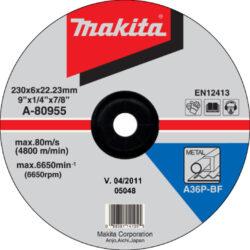 MAKITA A-80955 Kotouč brusný 230x6 na ocel-Kotouč brusný 230x6 na ocel