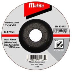MAKITA B-17653 Kotouč brusný 125x6 na hliník-Kotouč brusný 125x6 na hliník