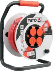 YATO YT-8106 Kabel 30m na cívce 4zásuvky PVC IP44 3G2,5mm 16A-Kabel 30m na cívce 4zásuvky PVC IP44 3G2,5mm 16A